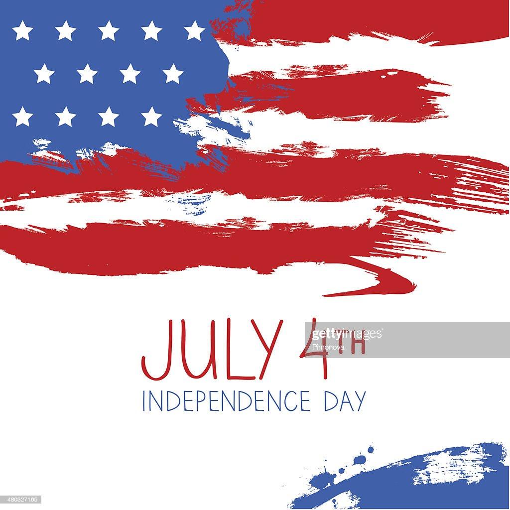 American flag splash background