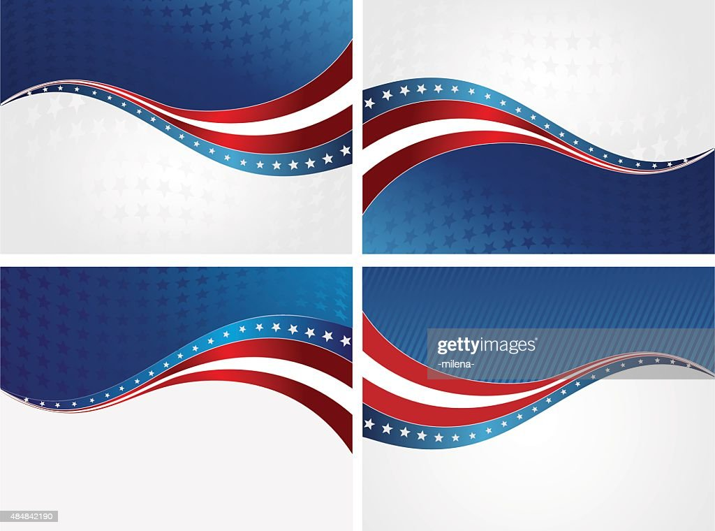 American Flag, Vector background for Independence Day and other events