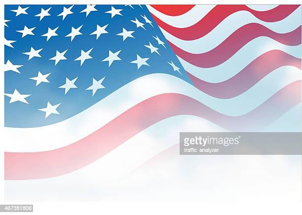 amerikanische flagge - amerikanische kontinente und regionen stock-grafiken, -clipart, -cartoons und -symbole