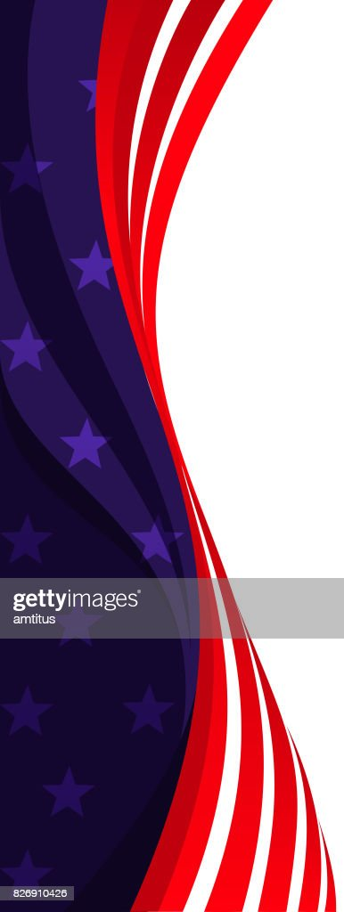 american flag vertical vector art getty images