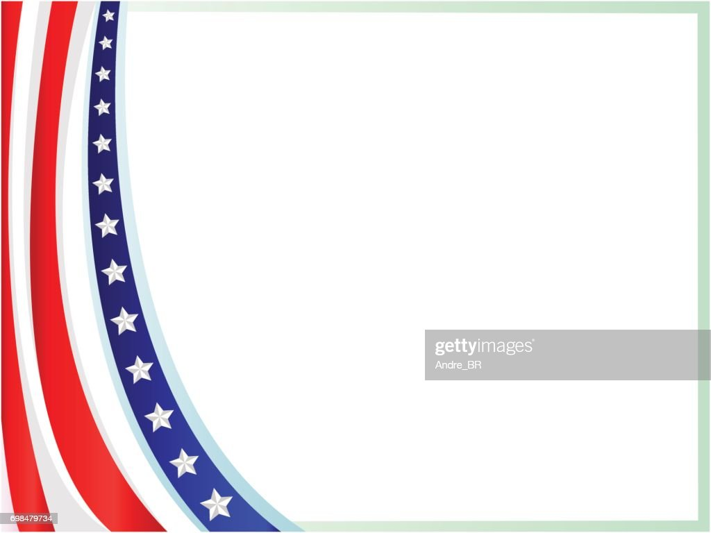 Amerikanische Flagge Wave Rahmen Vektorgrafik | Getty Images