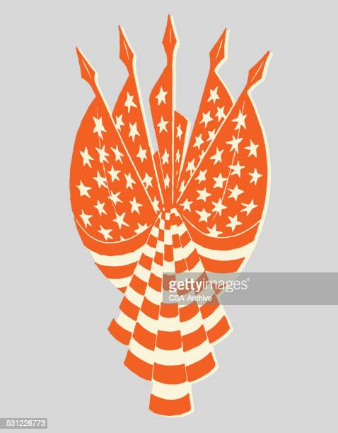 american flags - governmental occupation stock illustrations, clip art, cartoons, & icons