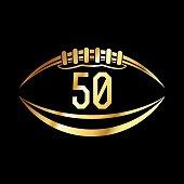 American Football 50 Emblem