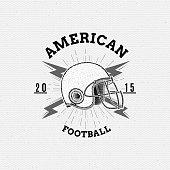American Football badges logos and labels for any use