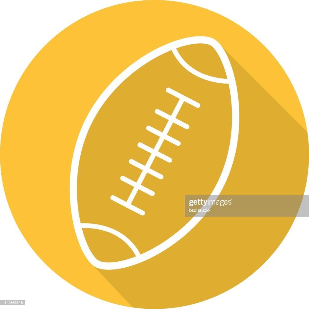 American football ball icon