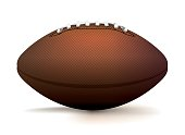 American Football Ball Isolated on White Illustration