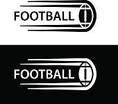 american football ball motion line symbol vector
