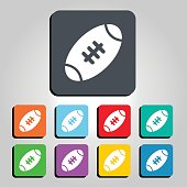 American Football Ball Vector Icon Illustration