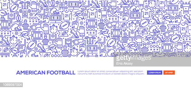 american football banner - team sport stock illustrations