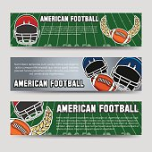 American football banners