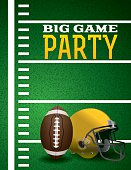 American Football Big Game Party Invitation