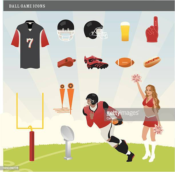 American Football Bowl Game Icons
