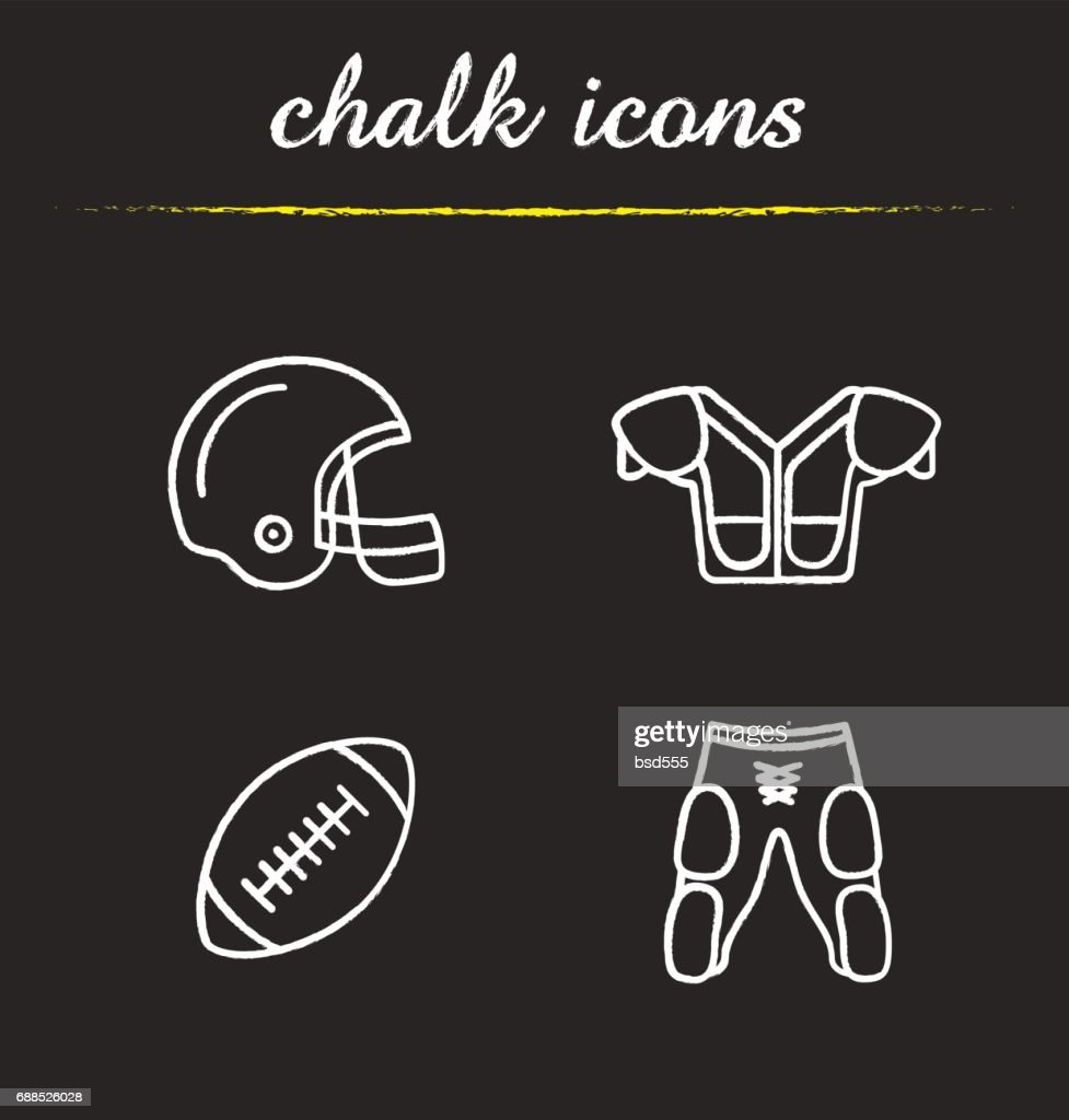 American football equipment icons