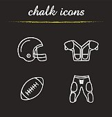 American football equipment icons
