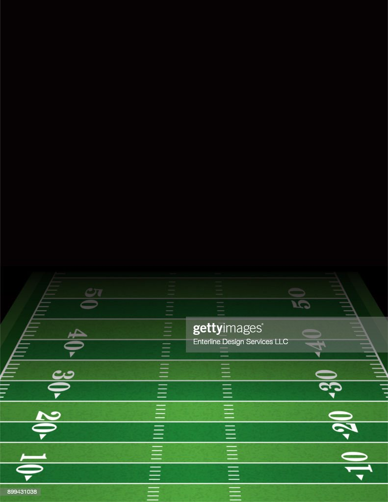 American Football Field Background Template Illustration