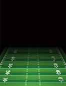 American Football Field Background Template Illustration