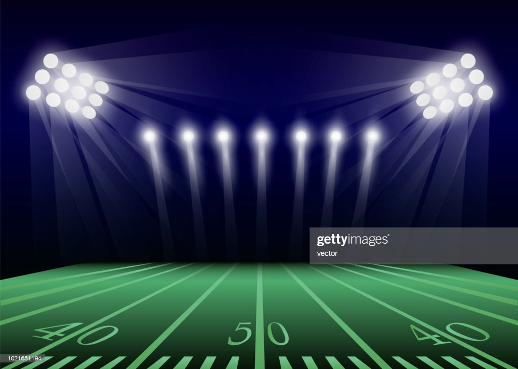 American football field concept background, realistic style