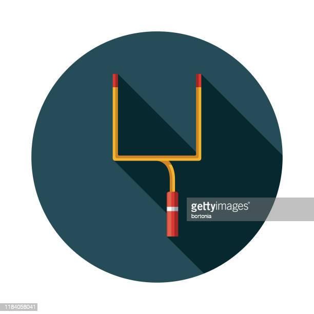 アメリカンフットボールフィールドゴールポストアイコン - アメリカンフットボールのフィールドゴール点のイラスト素材/クリップアート素材/マンガ素材/アイコン素材