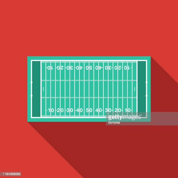 アメリカンフットボールフィールドアイコン - アメリカンフットボール場点のイラスト素材/クリップアート素材/マンガ素材/アイコン素材