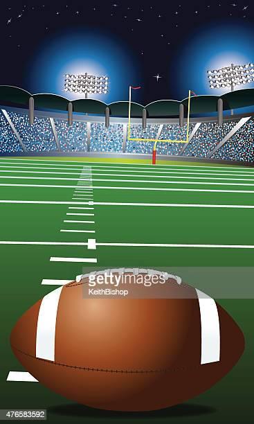 American Football Field, Stadium Background