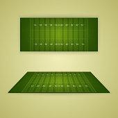 American football field. Vector EPS10 illustration