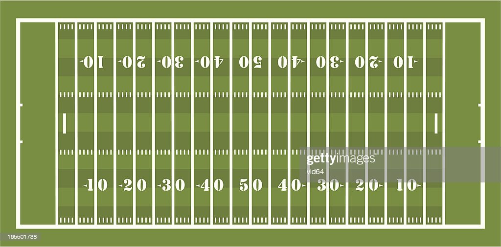 American Football Field : Vector Art
