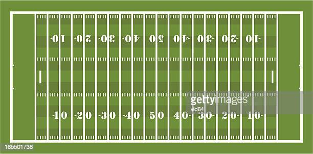 american football field - football field stock illustrations, clip art, cartoons, & icons