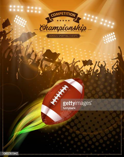 american football fire - stage light stock illustrations