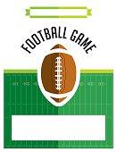 American Football Game Flyer Illustration