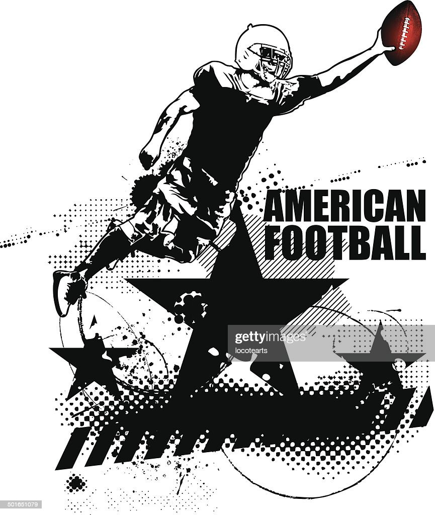 american football grunge scene with player
