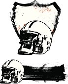 american football grunge shield and banner