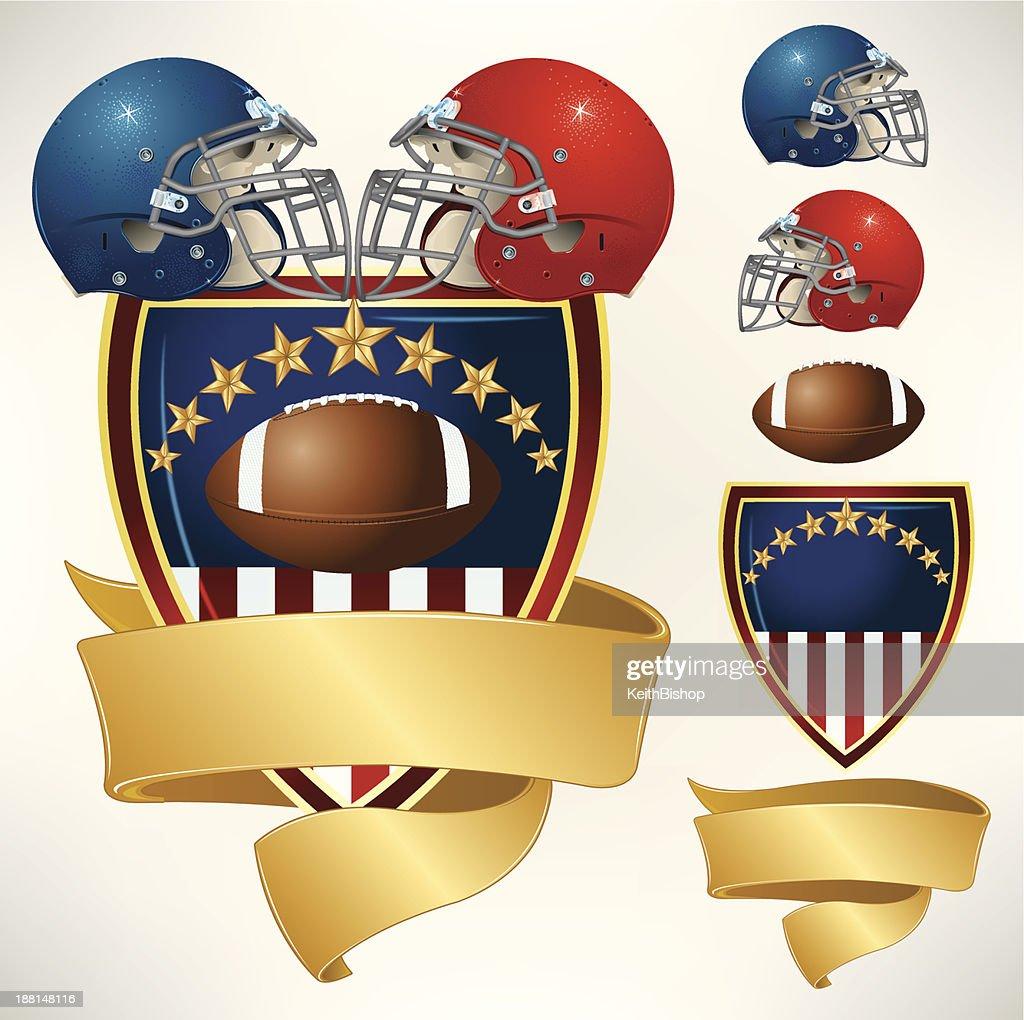 American Football Helmet All-Star Banner Background : stock vector