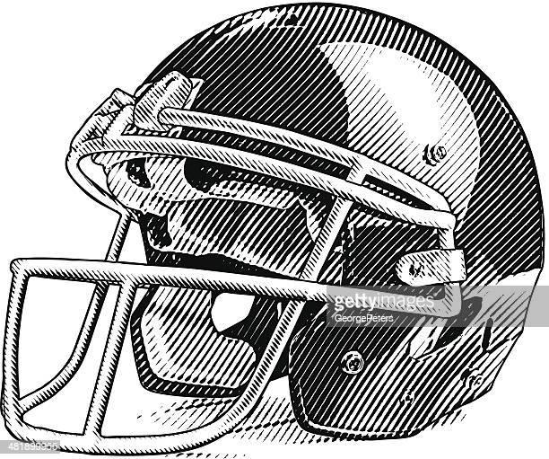american football helmet - football helmet stock illustrations