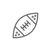 American football icon. Element of 4th of july icon. Thin line icon for website design and development, app development. Premium icon