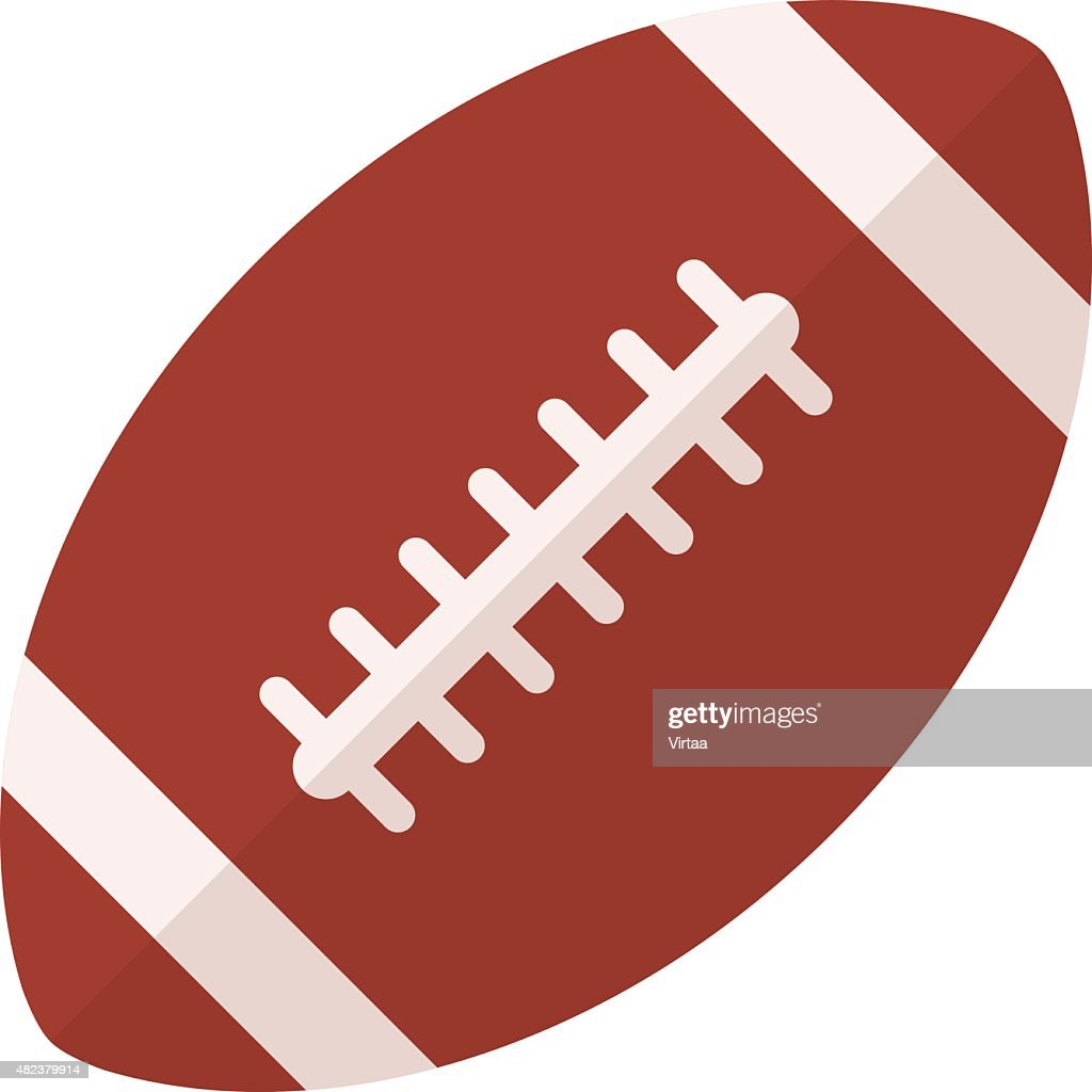 American football icon, flat design style, rugby ball vector symbol