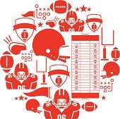American Football Icon set