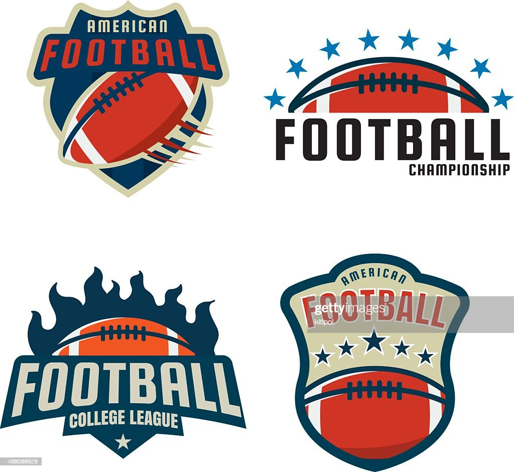 American football icon template collection,vector illustration