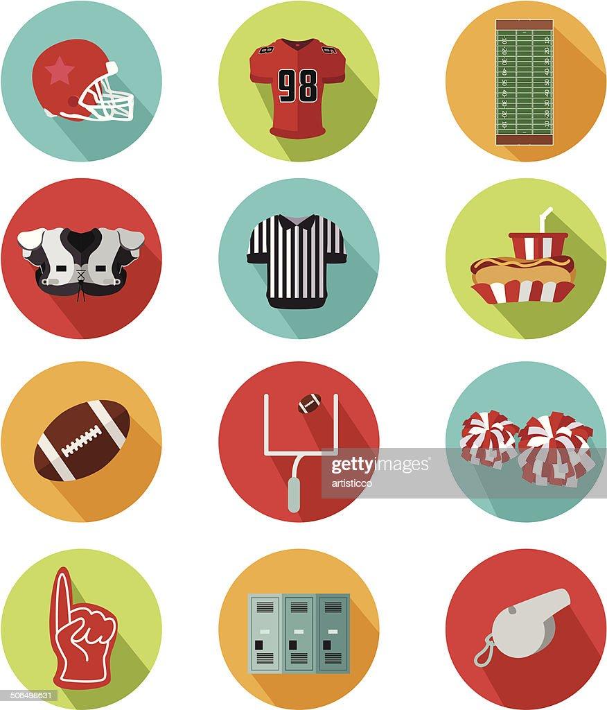 American football icons