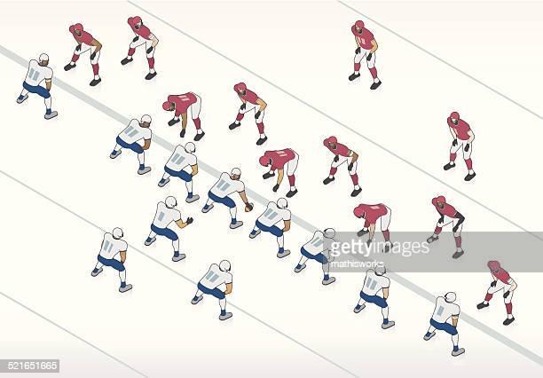 american football illustration - sports team stock illustrations