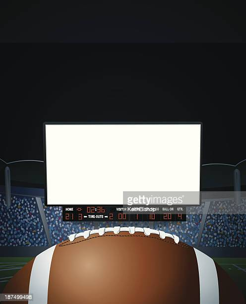 american football jumbotron background - scoreboard stock illustrations