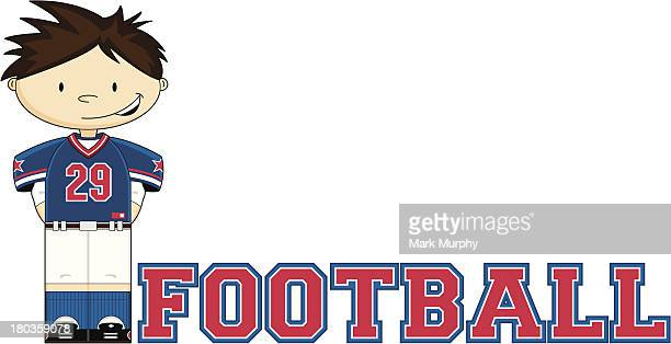 american football learn to read illustration - sports organization stock illustrations, clip art, cartoons, & icons