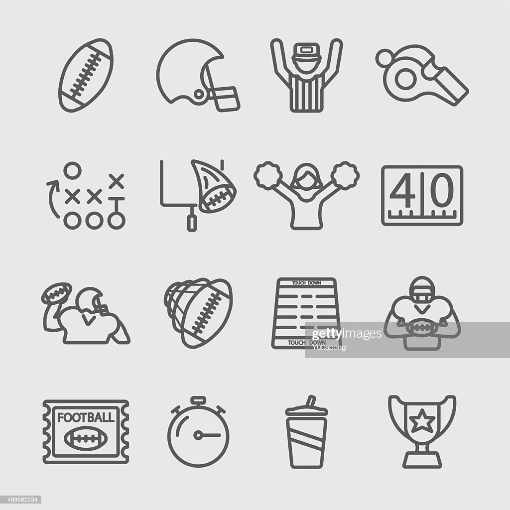 American football line icon