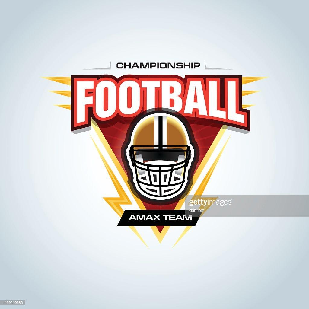 American football logo template, badge, t-shirt, label, emblem.