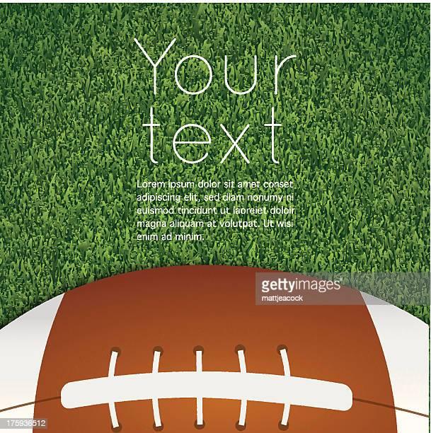 american football on grass - american football ball stock illustrations