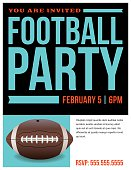 American Football Party Flyer Invitation Illustration