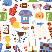American football pattern vector illustration