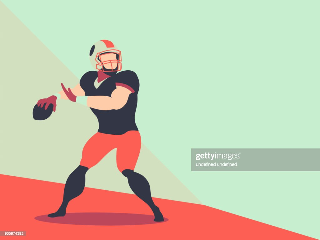 American football player Action Vector, character Football Player.