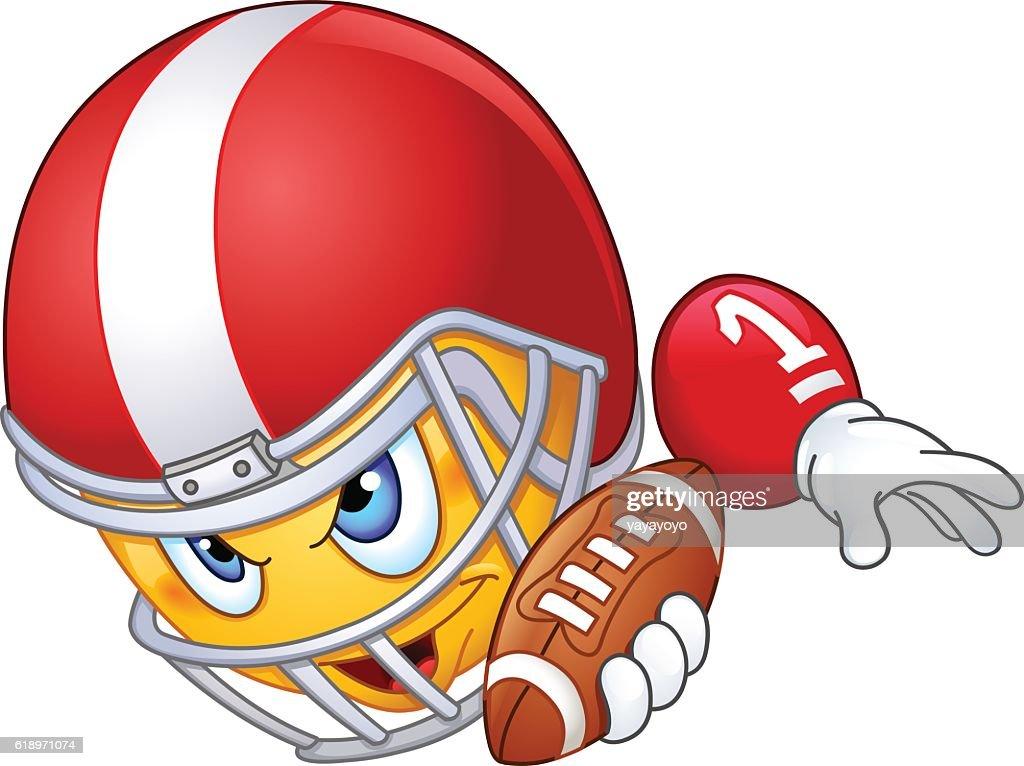 American football player emoticon
