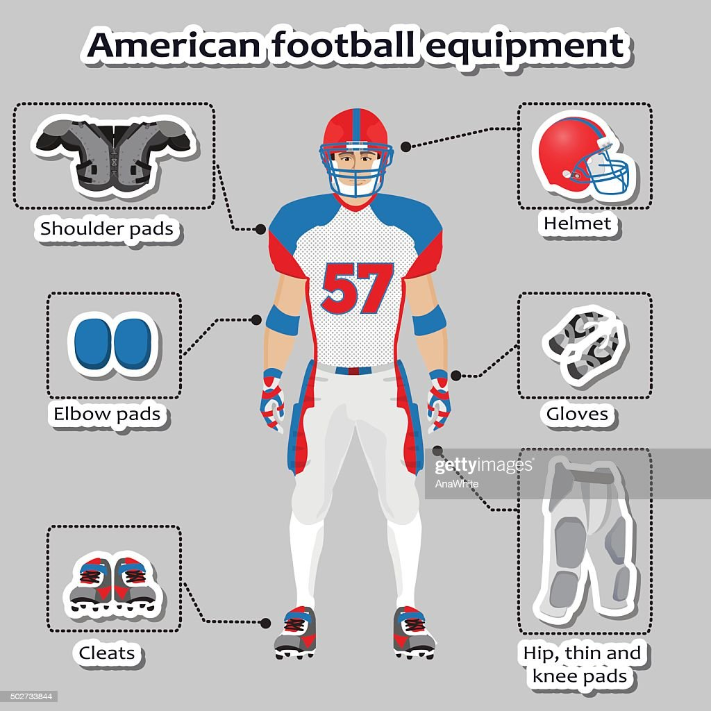 American football player equipment