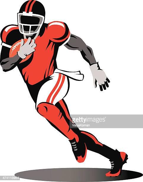 Jogador de futebol americano-Running para o solo-Gridiron